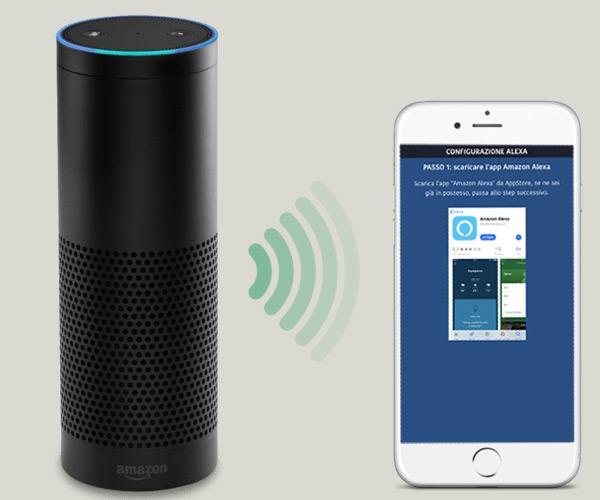 Applicazione DOMUS4U unita ad Alexa di Amazon