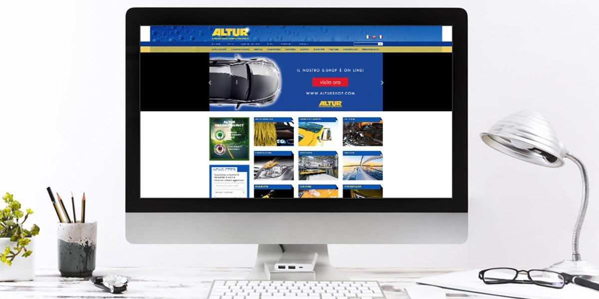 sito e-commerce di ALTUR