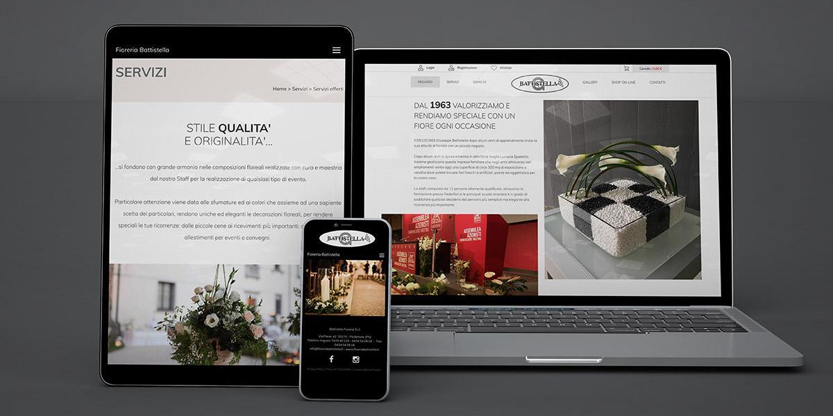 sito web fioreria battistella
