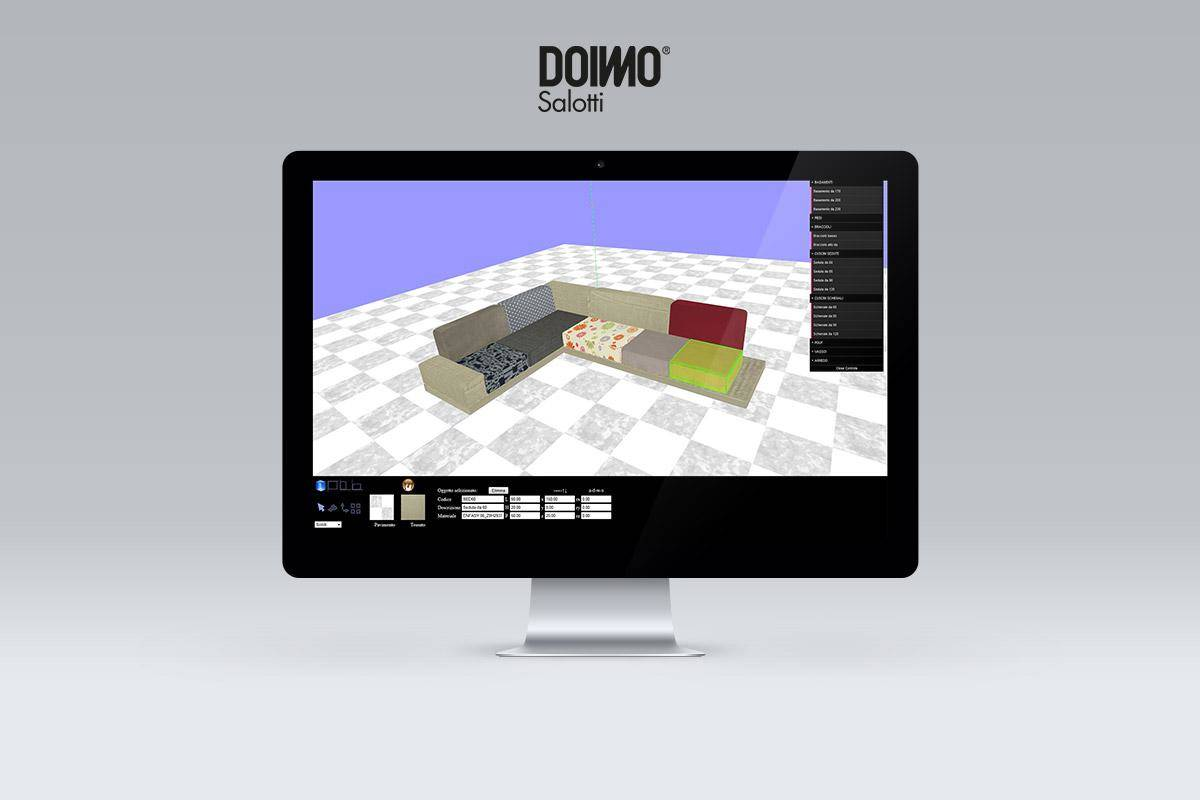 MEDIASTUDIO PRESENTS THE NEW 3D CONFIGURATOR FOR DOIMO SALOTTI