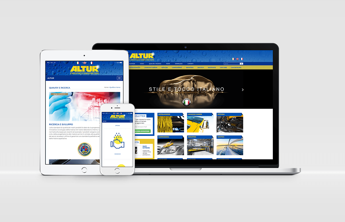 RESTYLING SITO WEB ALTUR