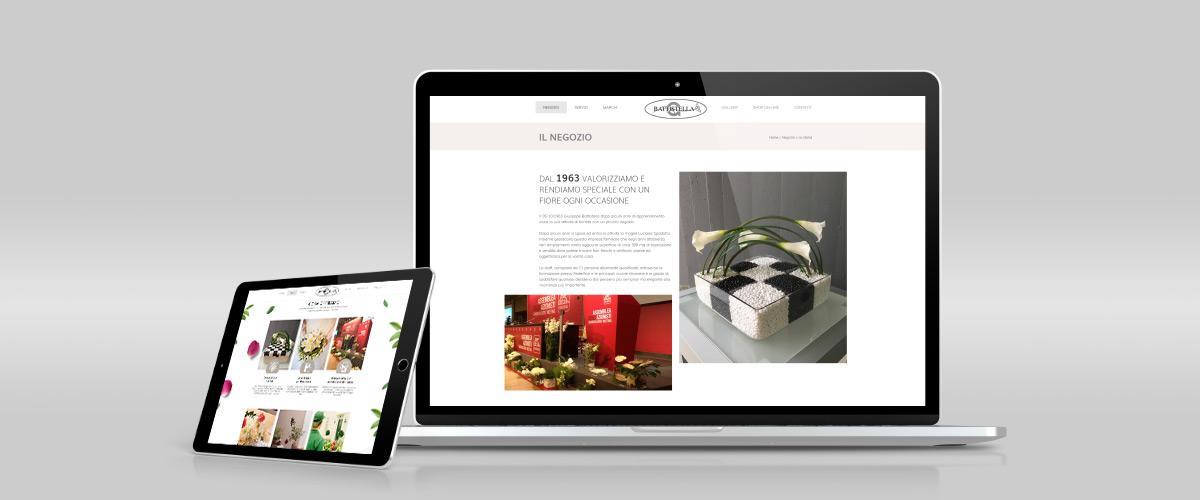 On-line il sito della Fioreria Battistella
