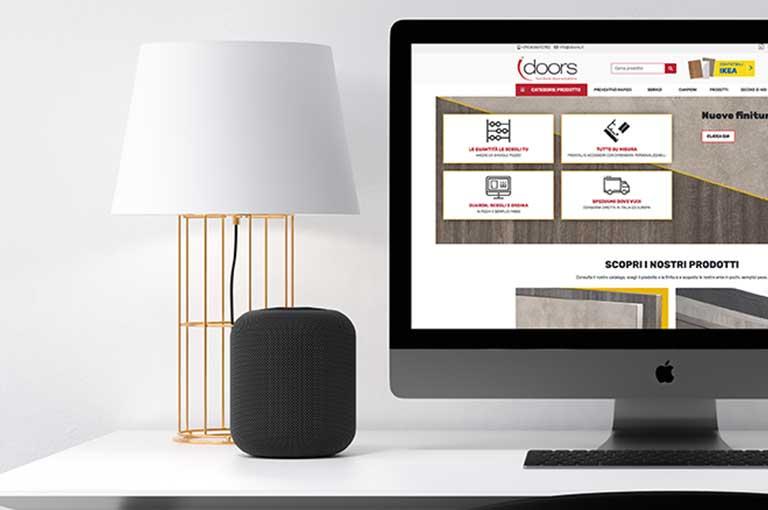 Online il sito e-commerce di Idoors