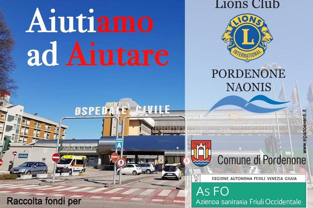 AIUTIAMO ad AIUTARE, to support the Emergency Department and Emergency Medicine of the Hospital of Pordenone