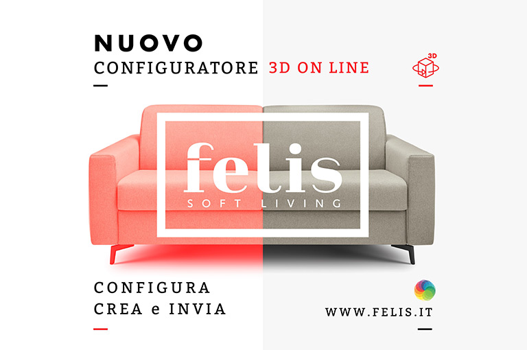 FELIS SOFT LIVING - IL NUOVO CONFIGURATORE 3D BY MEDIASTUDIO