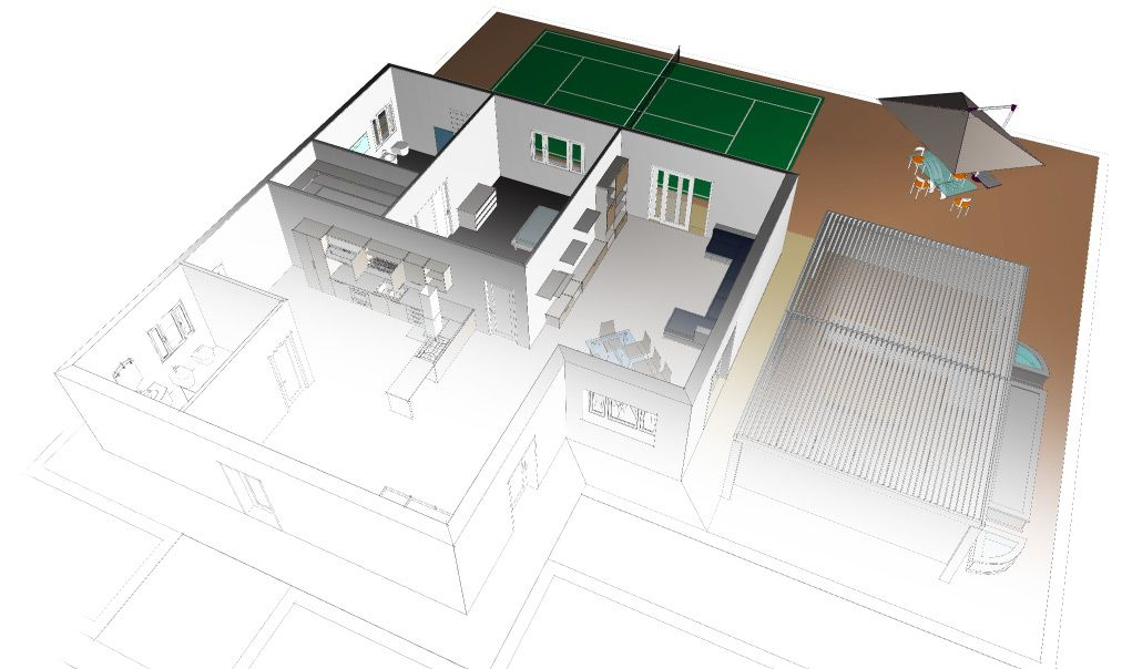 Disegnare casa in 3d disegnare casa in 3d rendering di for Disegnare in 3d online